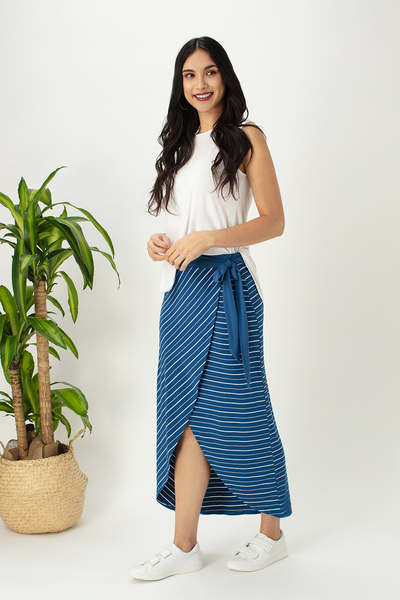 Bamboo Maxi Skirt, front view, LNBF Clothing