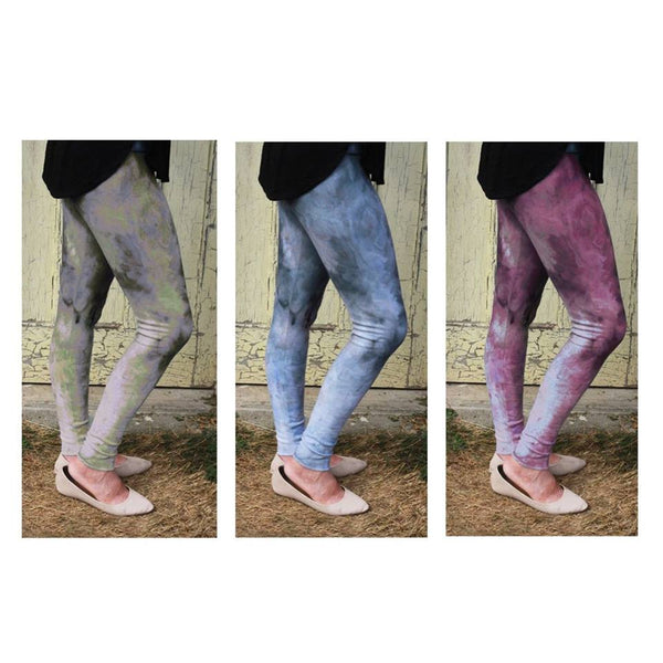Bamboo Fleece Leggings - Hand dyed