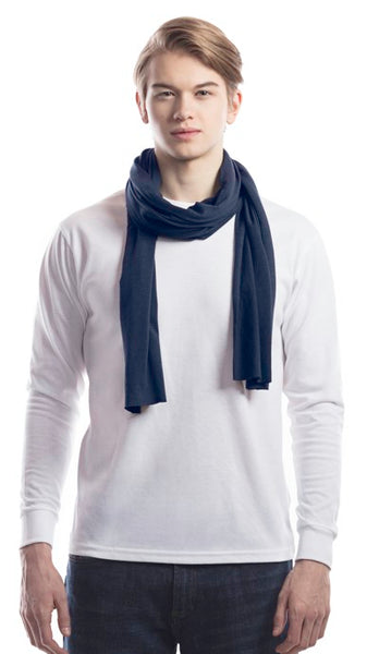 Midnight blue bamboo scarf.
