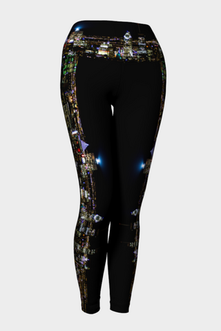 Montreal at Night - Eco Lux Legging - full length