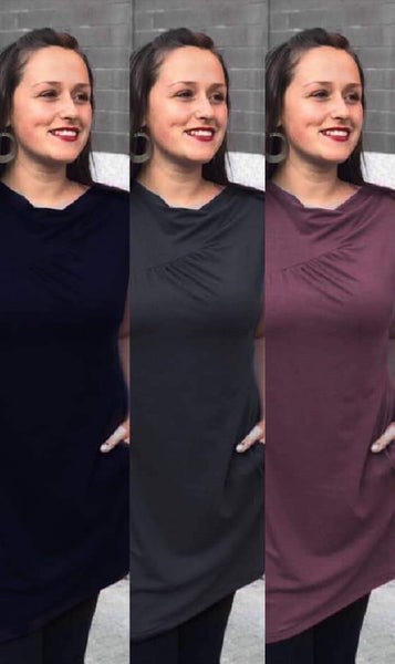 All the colours of the Callie bamboo tunic.