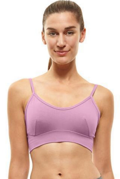 Blue Canoe Bra - Organic cotton bralette bra - Made in the USA - Front View, Orchid color