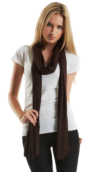 Chocolate brown bamboo scarf.