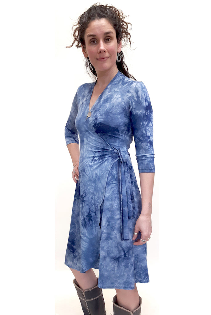 Bamboo Tie Dye Wrap Dress