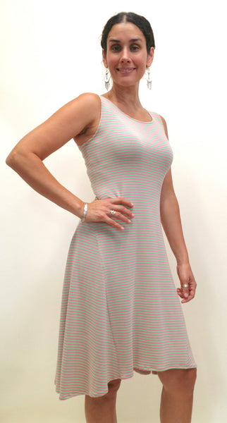 Side view of the bamboo dress.