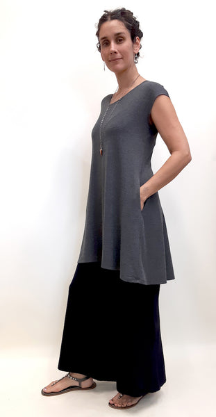Bamboo top tunic length full view.