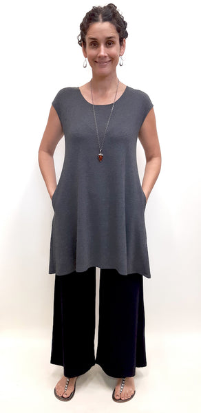 Front view full body in the Bamboo top tunic.