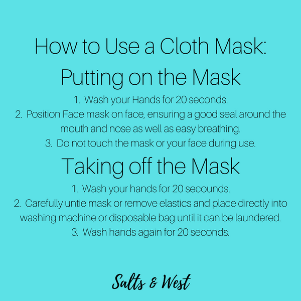 How to wear a face mask.
