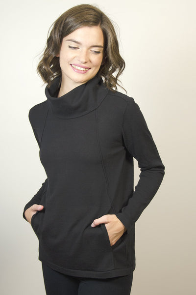 Kanga Pocket Cowl Neck Sweater