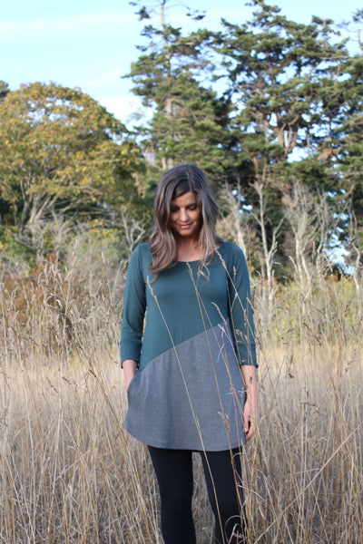 Meggy bamboo tunic full front view