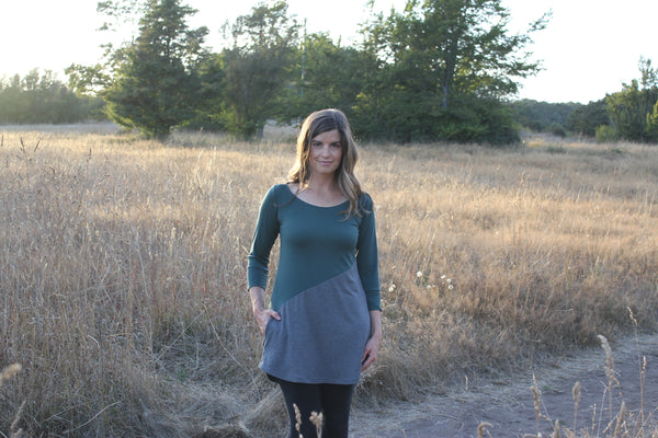 Wide front view Meggy bamboo Tunic
