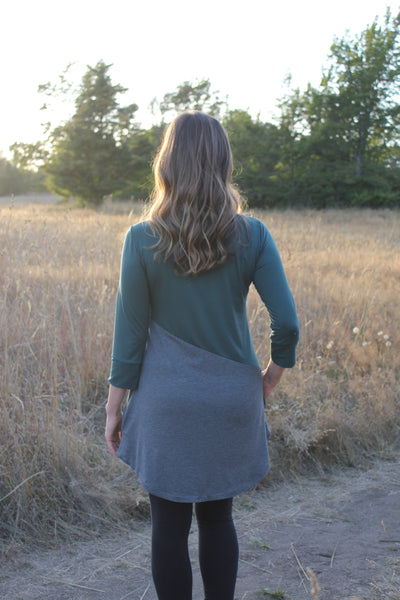 Back View Meggy bamboo tunic