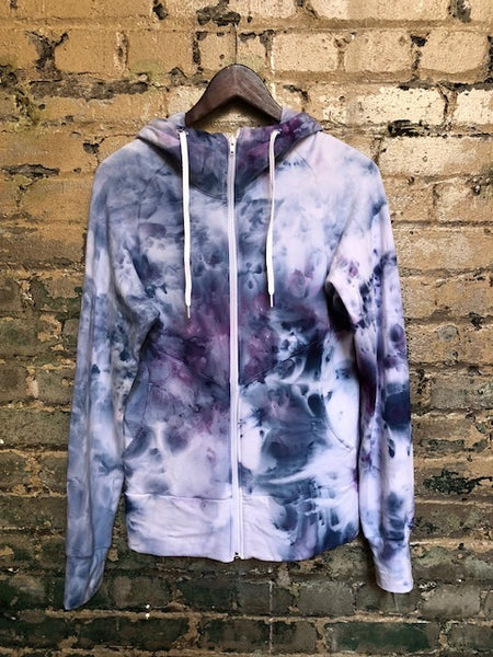 Salts Bamboo Fleece Zip-Up Hoodie - Handdyed bamboo hemp fleece sweater