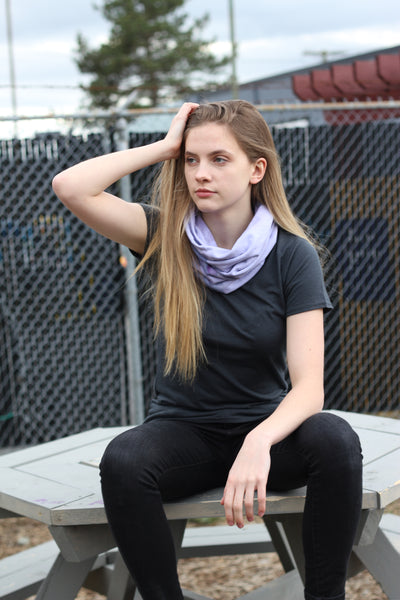 Bamboo Neck Cozy Circle Scarf - Hand dyed and Solid Colors