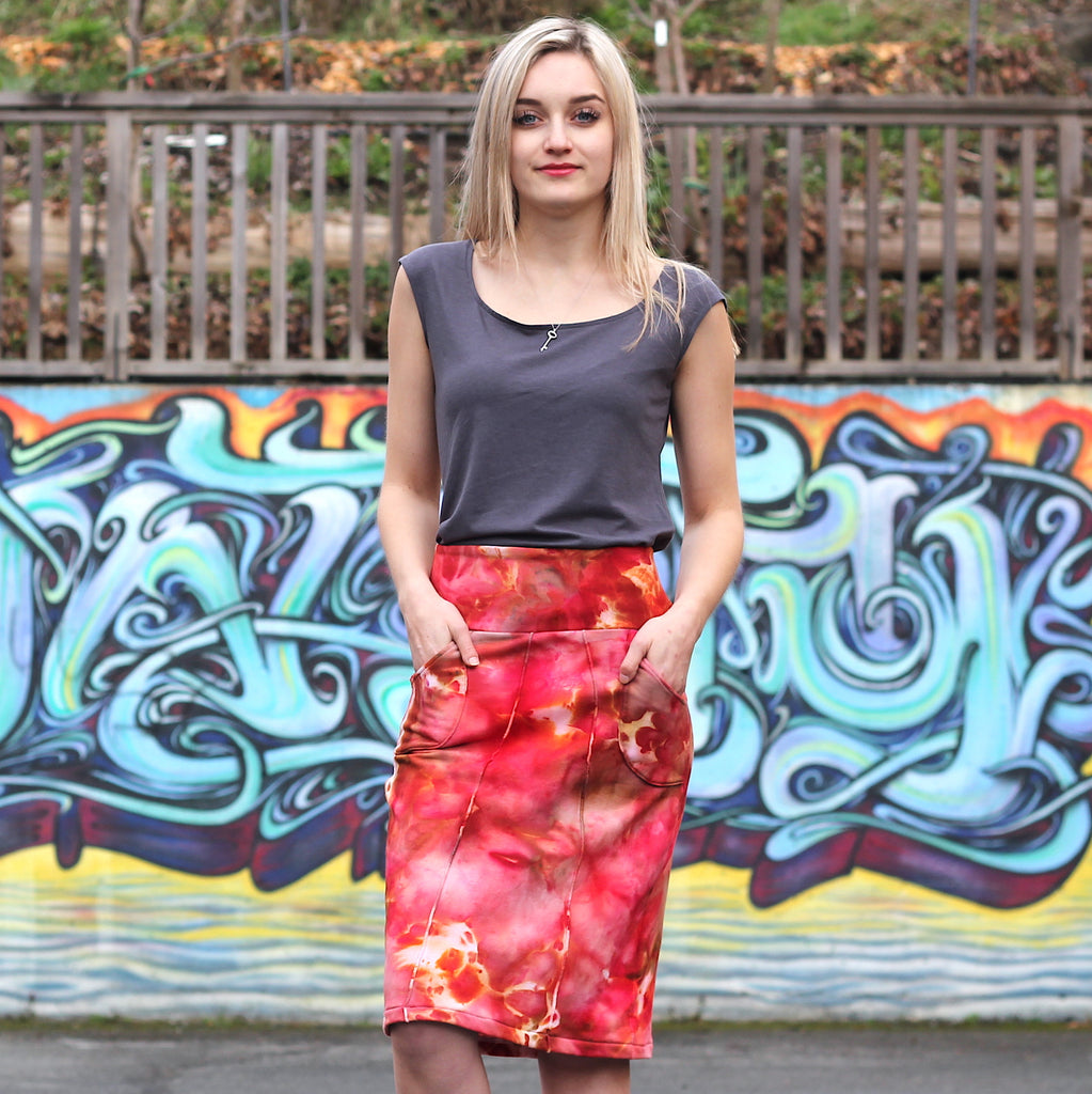 Lana Bamboo Pencil Skirt - Handdyed