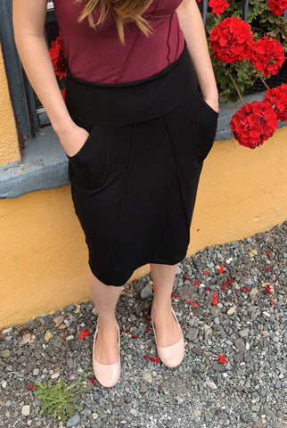 Lana Bamboo Pencil Skirt - Solid Colours