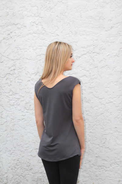 Back view of the bamboo t shirt.