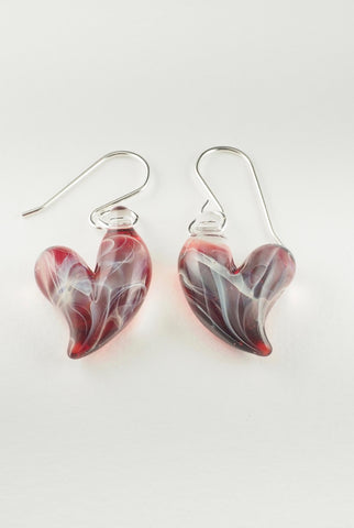 Red Heart Earring