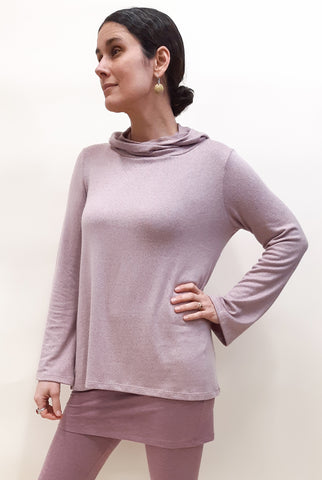 Tencel Hooded Summer Sweater Mellow Mauve