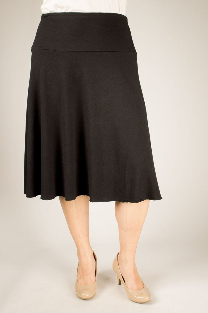 Blue Sky Bamboo Skirt - Bamboo Clothing - black colour - front view