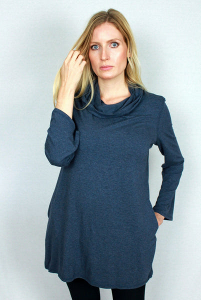 Bamboo Top - Hooded Tunic with Pockets
