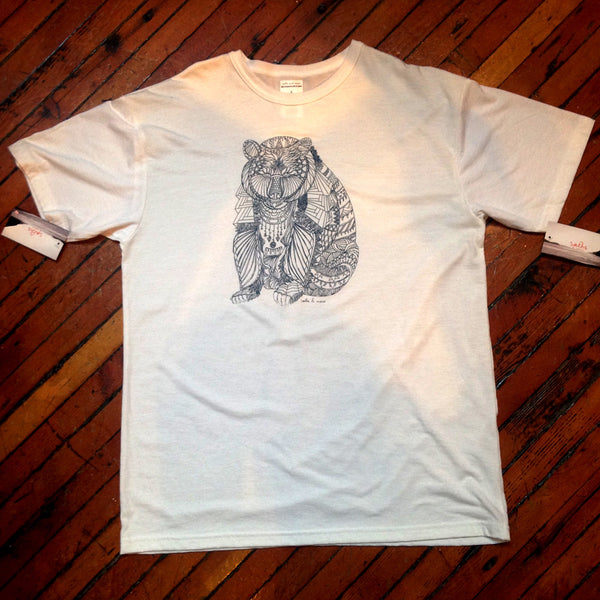 Bear Print Men's Bamboo T Shirt