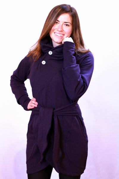 Purple colour of the bamboo wrap bamboo sweater.