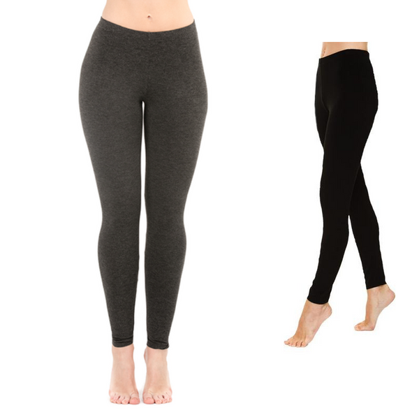 Grey and Black Bamboo Leggings - LNBF - Suri legging - Leave Nothing But Footprints Bamboo Clothing