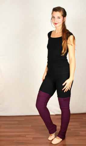 Bamboo leg warmer for bamboo leggings.