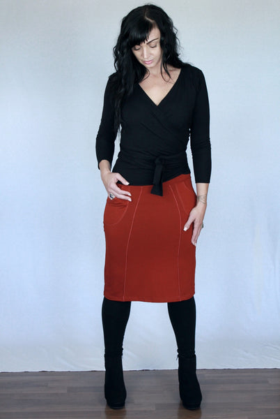 Lana Pencil Bamboo Skirt