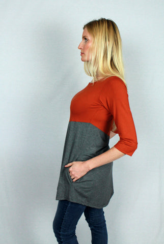 Bamboo tunic, side view.