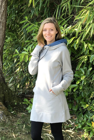 Candy Bamboo Hemp Fleece Hoodie Dress