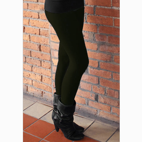Bamboo Fleece Leggings - Solid Colours