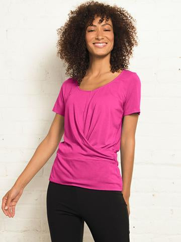 Blue Canoe Clothing Overlay Organic Cotton top - lilac color