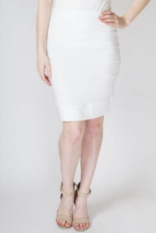 Jonelle Fitted Bamboo Pencil Skirt