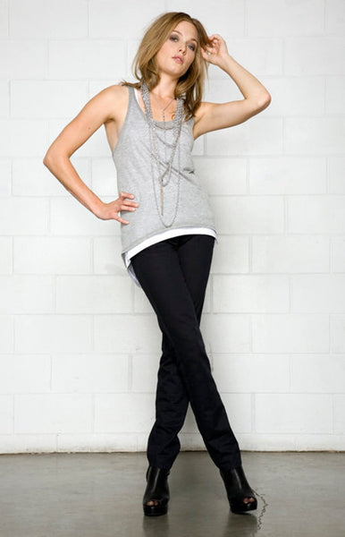 Full length view of the bamboo top with racerback design.