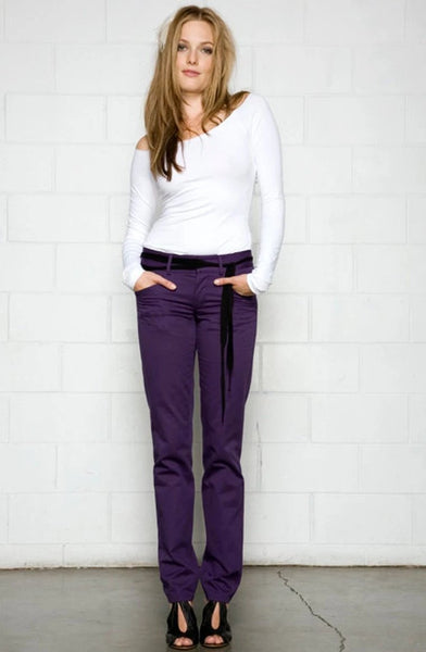 Slim Fit Organic Cotton Pant - Straight Leg Cut