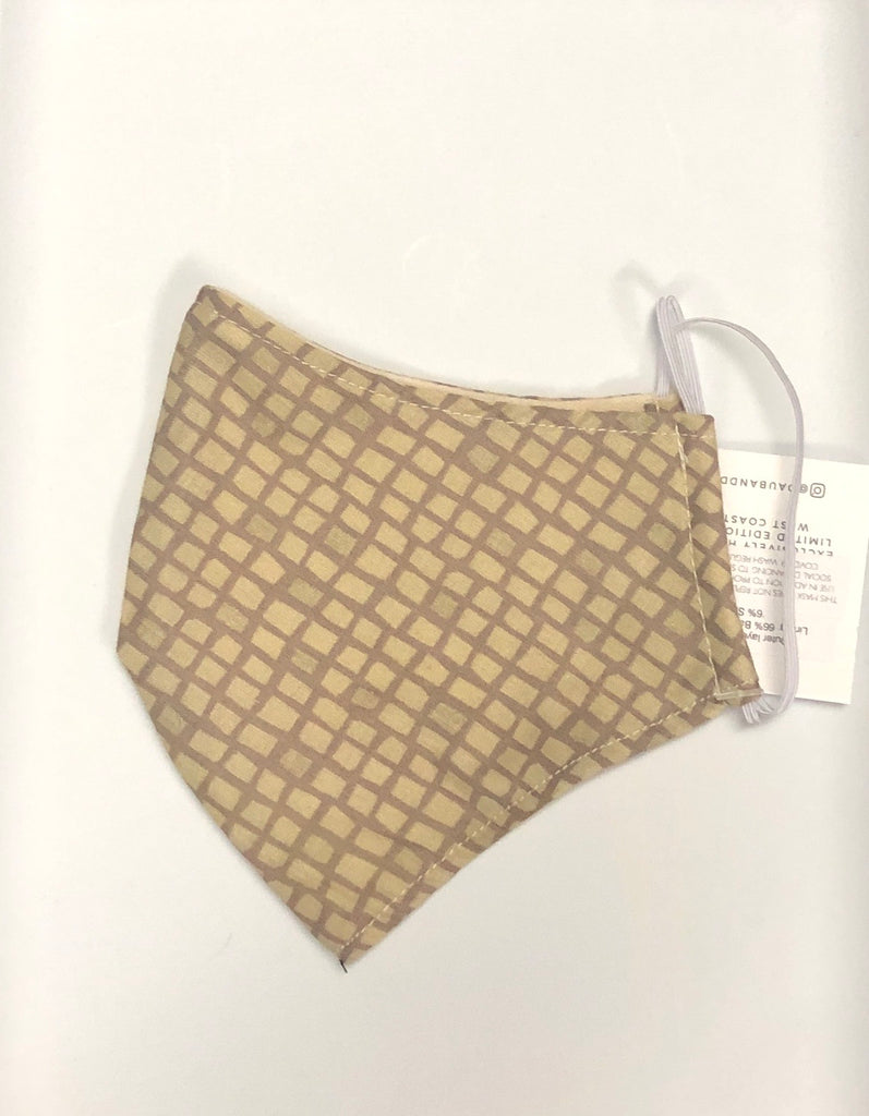 Personal Cloth Face Mask - 100% Cotton Face Mask - HoneyComb Print Face Mask