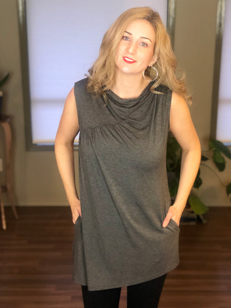 Grey bamboo tunic.