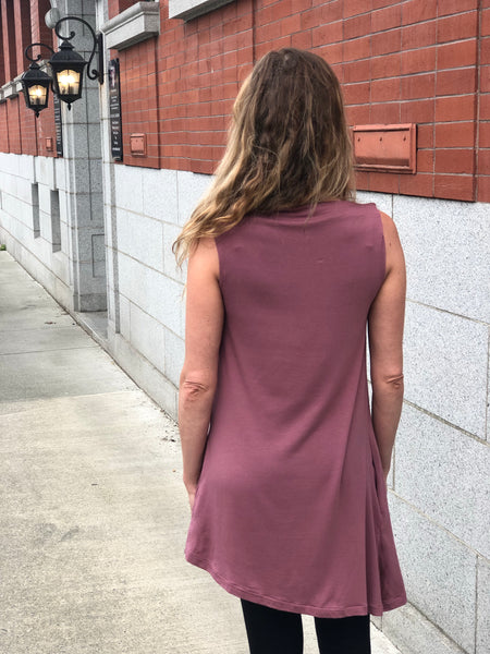 Back view of the bamboo tunic.