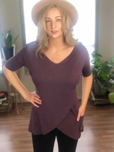 Front view bamboo tunic.
