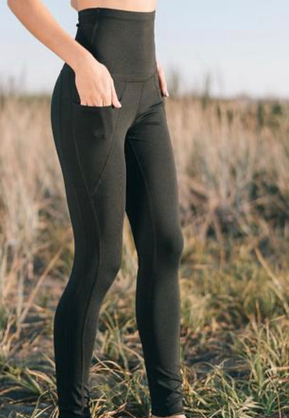 Pocket Bamboo Legging - Bamboo Fleece Legging