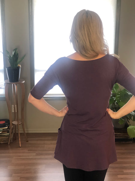 Bamboo Tunic back view.