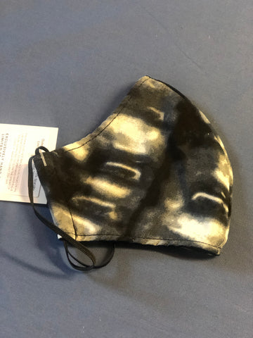Personal Cloth Face Mask - 100% Cotton Face Mask - Black Dye Print Face Mask