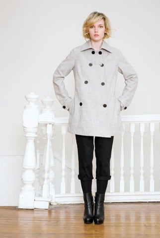 Organic Cotton Peacoat Jacket