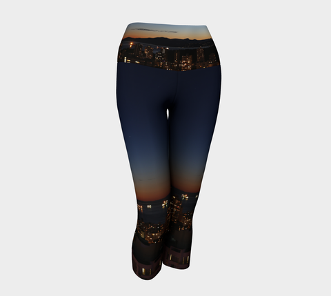Vancouver at Night Capris -Eco Lux Poly