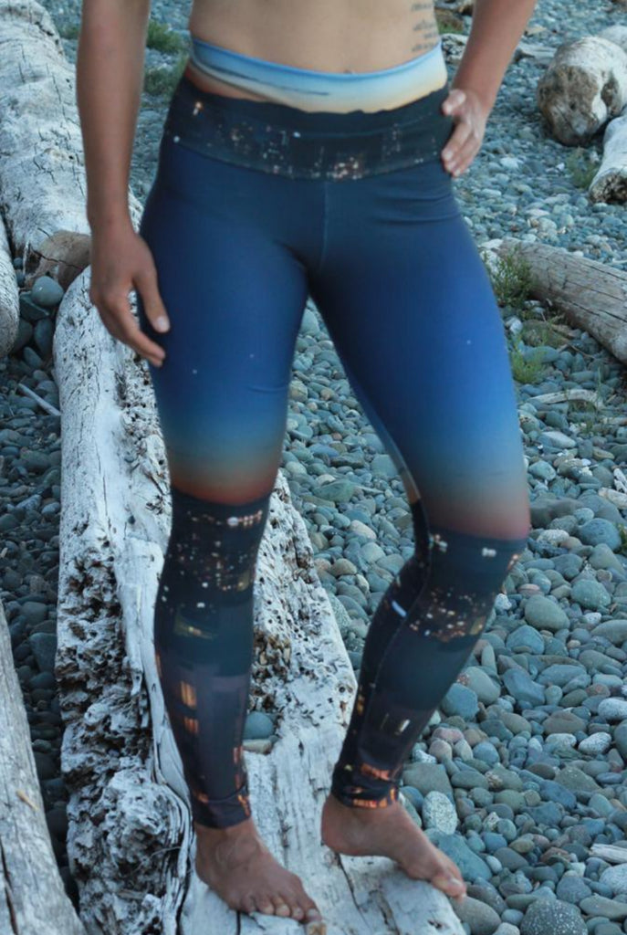Vancouver at Night - Eco Lux Legging - full length