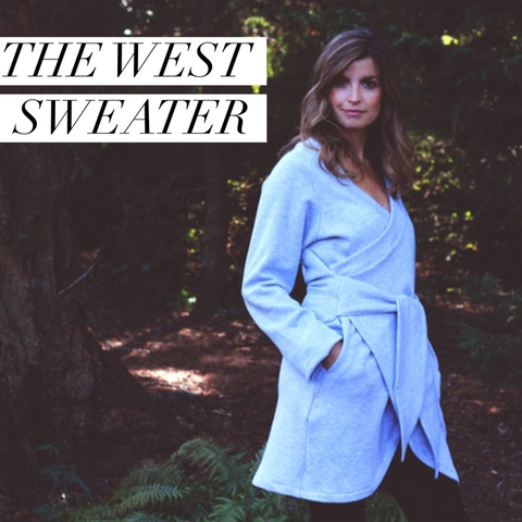 West Wrap Bamboo Fleece Sweater