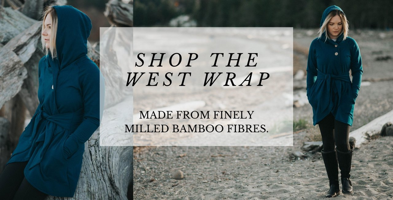 West Wrap Bamboo Wrap Sweaters and Bamboo Hoodies