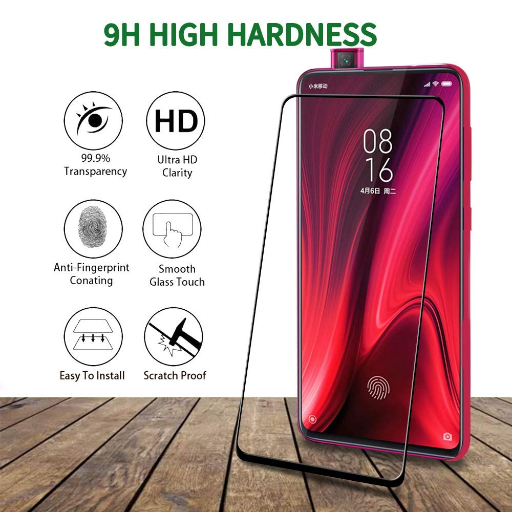 Redmi K20 PRO Full Tempered Glass by Rinbo, High Definition Transparency 100% OG Quality - EZELLER